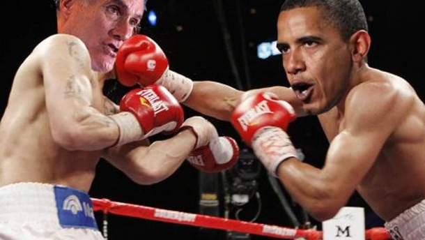 Фотоколаж Обама і Ромні