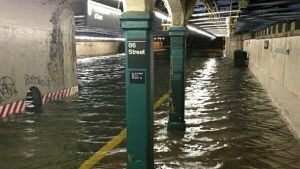 Затоплене метро Нью-Йорка