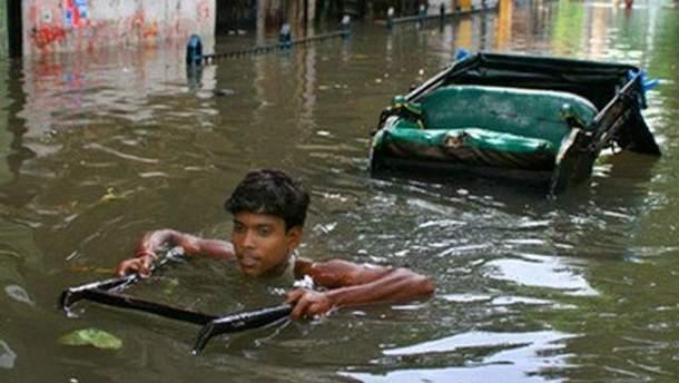 Сильные дожди в Индии