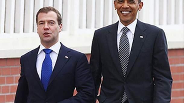 Дмитро Медведєв і Барак Обама