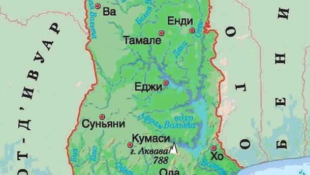 Карта Гани