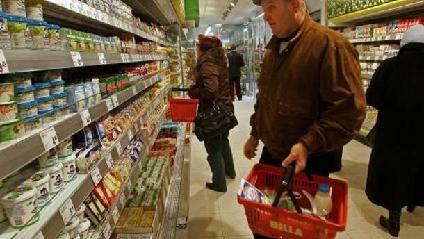 Продукты в супермаркете