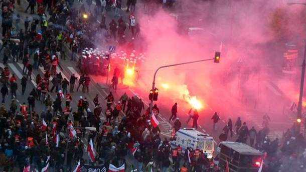 Стычки в Варшаве