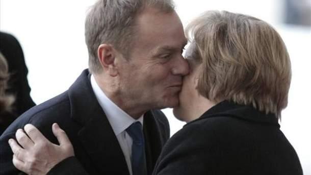 Дональд Туск и Ангела Меркель