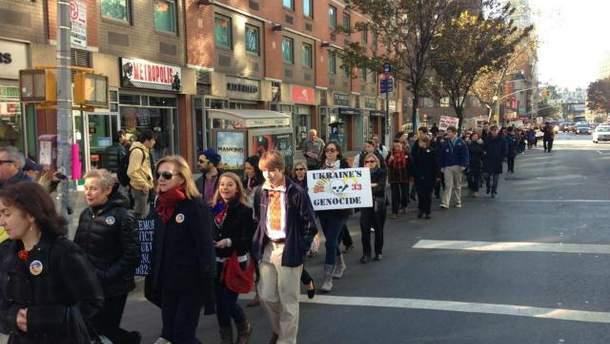 В Нью-Йорке прошел марш памяти жертв Голодомора (Фото)