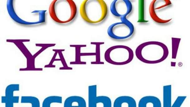 Facebook, Yahoo!, Google