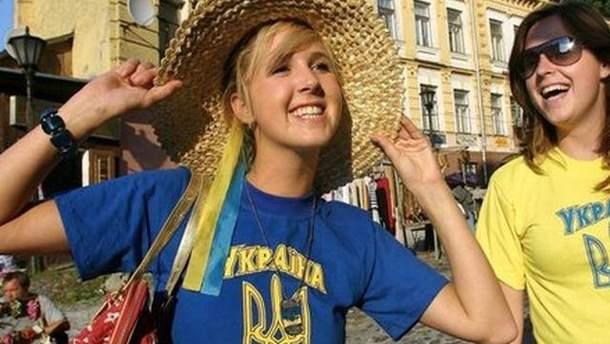 Счастливая украинка