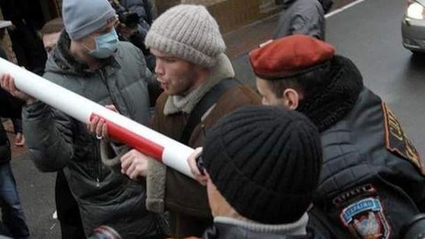 Митинг возле КГГА