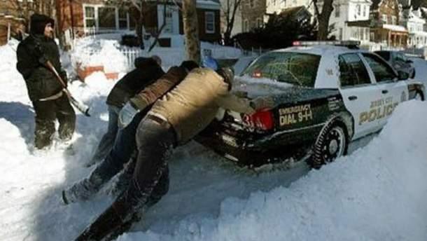 Снігопад у США