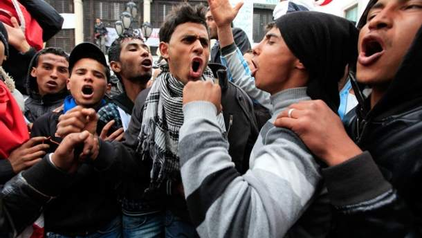 Протест в Тунисе