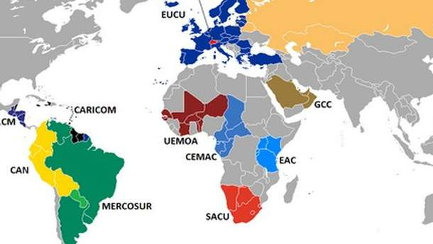 Таможенные союзы в мире