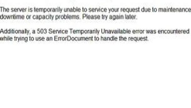 Сайт не работает