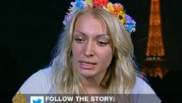 Канал Al Jazeera не пустил FEMENистку на прямой эфир (Фото)