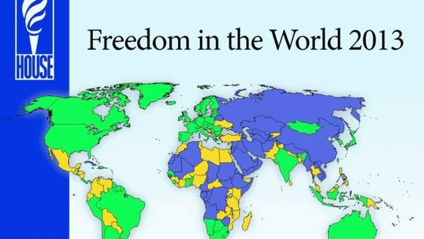 Freedom House in the world 2013