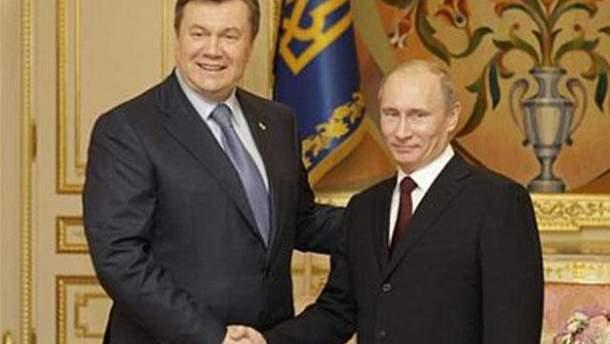 Президенти Янукович і Путін