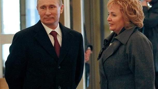 Владимир Путин с женой