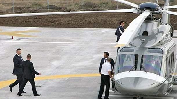 Виктор Янукович перед полетом