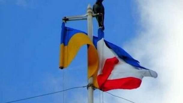 Прапори України та Росії