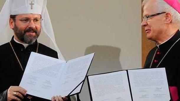 Представители Украинской греко-католической церкви и Римско-католической церкви