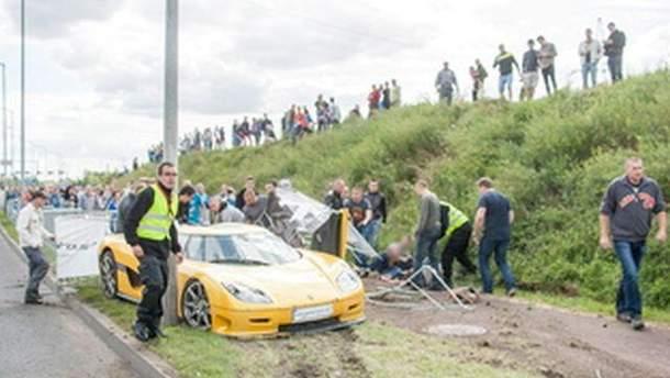 Аварія під час автошоу у Познані