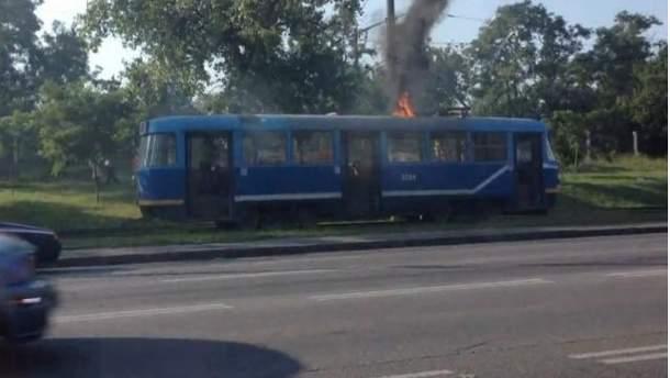 Горящий трамвай