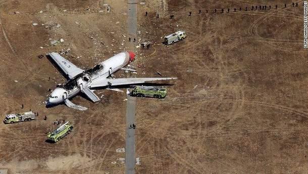Авария самолета в Сан-Франциско