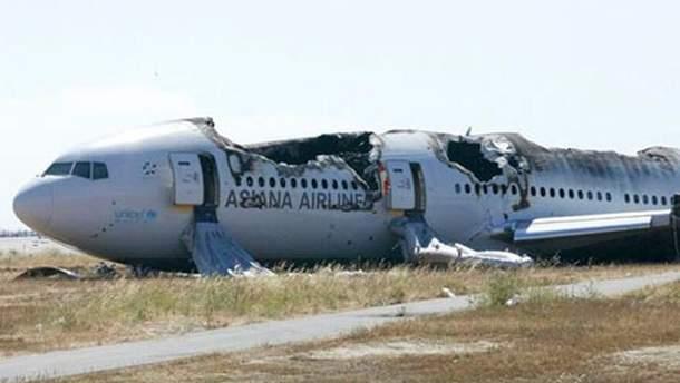 Самолет, который неудачно приземлился в Сан-Франциско
