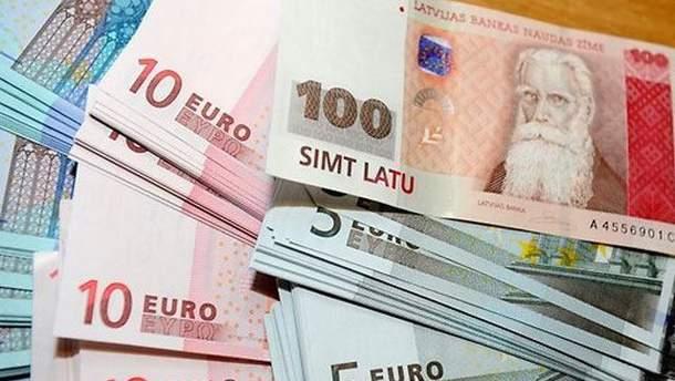 Латы и евро