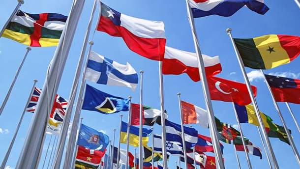 Флаги участников Универсиады