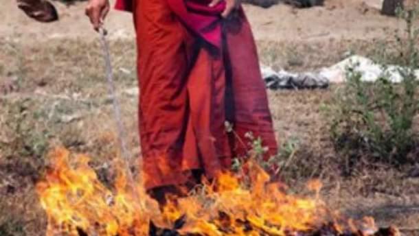 Тибетський монах підпалив себе
