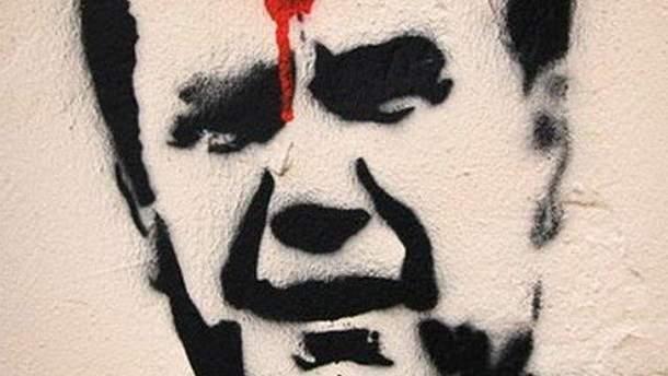Малюнок людини, схожої на Віктора Януковича