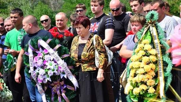 Нынешние похороны в Горловке
