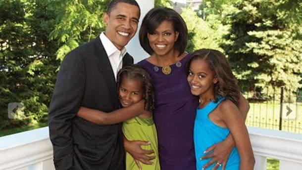 Обама та його сім'я