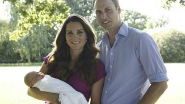 Кейт Міддлтон та принц Вільям з сином