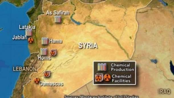 Сирія на карті