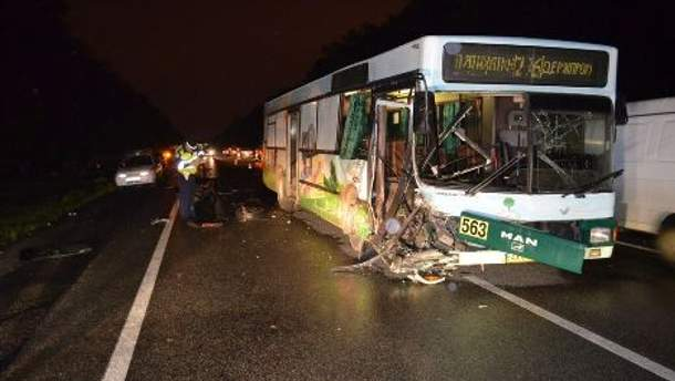 Автобус MAN після аварії