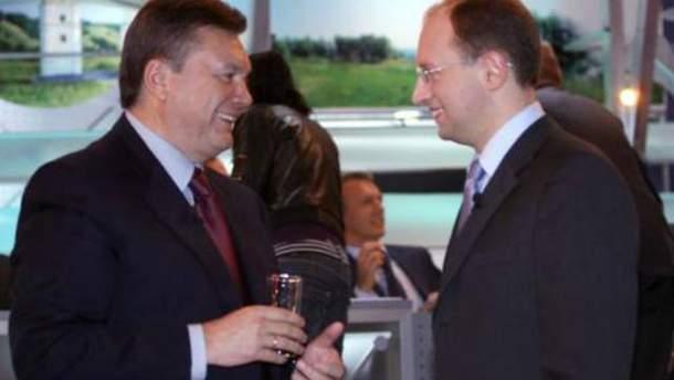 Виктор Янукович и Арсений Яценюк