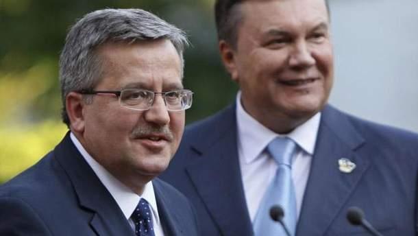 Янукович і Коморовский