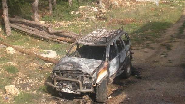 Авто Ніконова після пожежі