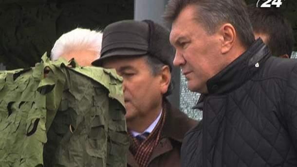 Виктор Янукович на полигоне