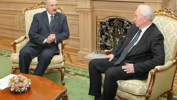 Николай Азаров и Александр Лукашенко