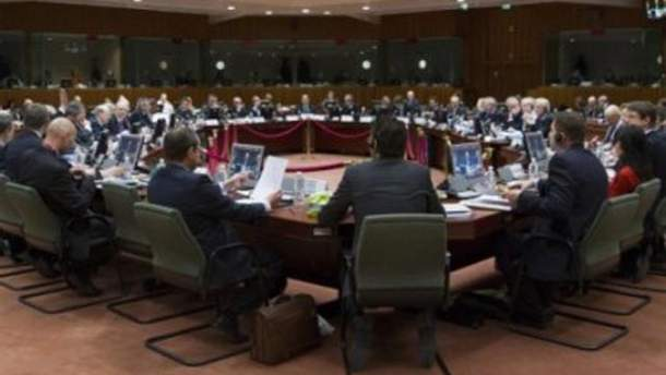 Заседание министров ЕС