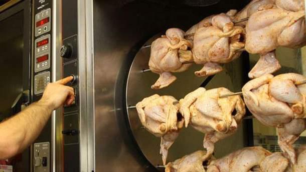 Приготовление курятины-гриль