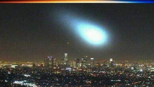 Неизвестный объект над Лос-Анджелесом