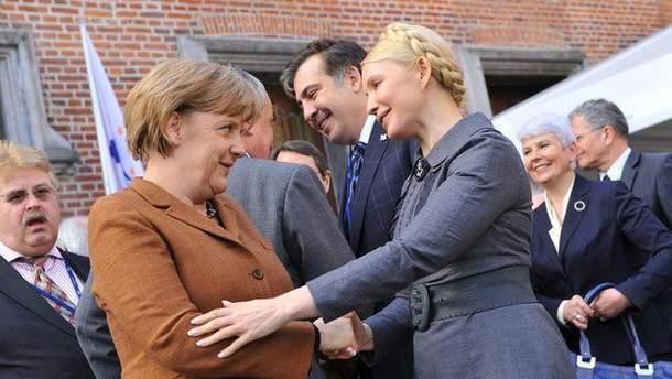 Ангела Меркель и Юлия Тимошенко