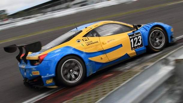 Team Ukraine racing with Ferrari