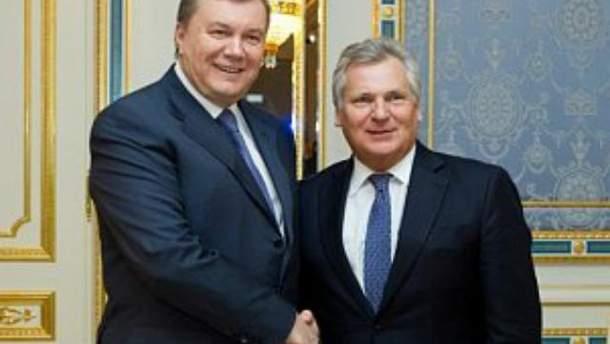 Виктор Янукович и Александр Квасьневский