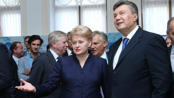 Даля Грібаускайте і Віктор Янукович