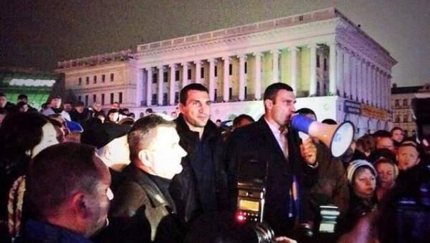 Братья Кличко на Евромайдане