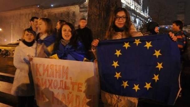 Львовские студенты на Евромайдане